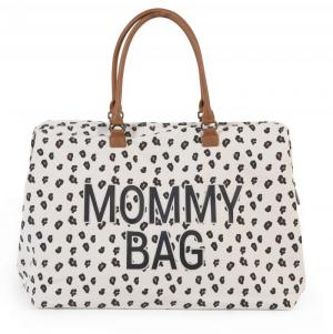 MOMMY BAG CANVAS LEOPARD logo