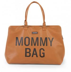MOMMY BAG LEATERHLOOK BRUIN logo