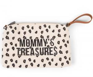 MOMMY CLUTCH CANVAS LEOPARD logo