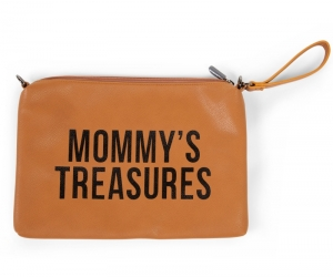 MOMMY CLUTCH LEATHERLOOK BRUIN logo