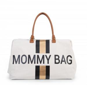 MOMMY BAG CANVAS OFFWHIT logo