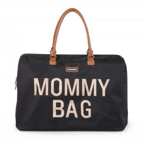 MOMMY BAG ZWART-GOUD logo