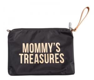 MOMMY CLUTCH ZWART-GOUD logo