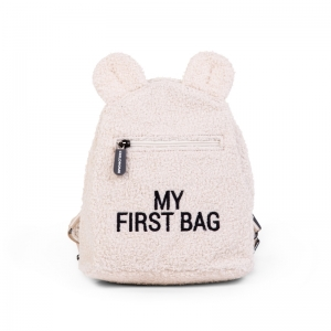 KIDS MY FIRST BAG TEDDY ECRU logo