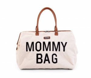 MOMMY BAG TEDDY ECRU logo
