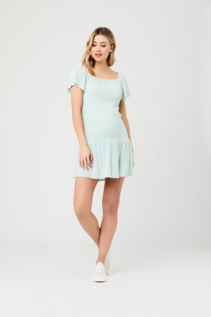BETSIE SHIRRED DRESS logo