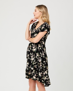 ELORA TIE FRONT DRESS MULTI