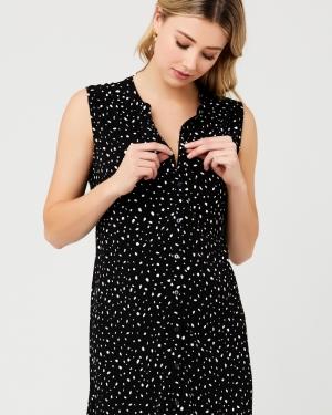 FELICITY SHIRT DRESS BLACK/WHITE