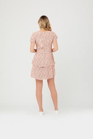 LULU LAYERED DRESS ROSE/WHITE