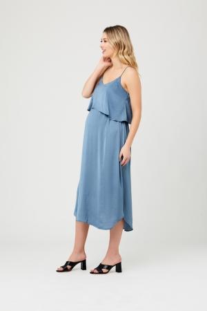 NURSING SLIP DRESS PETROL
