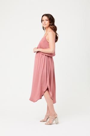 NURSING SLIP DRESS ROSE