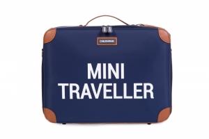 MINI TRAVELLER BLAUW-WIT logo