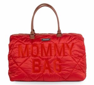 MOMMY BAG GEWATTEERD RED logo