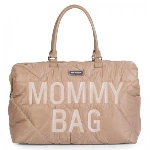 MOMMY BAG GEWATTEERD BEIGE logo