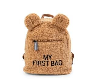 KIDS MY FIRST BAG TEDDY BROWN logo